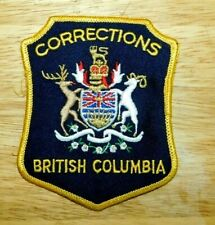 Patch British Columbia BC CANADA Corrections patch - NEW! *Gold Mylar Thread*