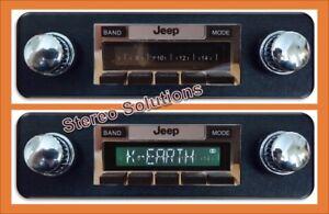 1978-1986 Jeep CJ 5, 7, classic look 300 watt AM FM Stereo + Dash Repair Kit USB
