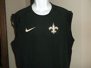 New Orleans Saints Nike Dri Fit Sleeveless shirt Men's Medium nwt- Free Ship