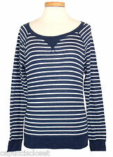 Abercrombie & Fitch Womens Shirt SHANNON Top Stripe Tee Blue White Sz XS NEW $48