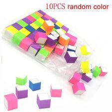 10x Colorful Sanding Sponge Nail Buffers Files Grinding Polishing Nail Art Tool.