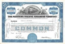 The WESTERN  Pacific Railroad Compagny Certificate 40 shares  1951 (12773)