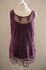 Macy's INC Lace Cami Camisole Tank Top Port Neo Boho Victorian Gothic 2 pc NEW