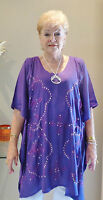 Embroided Sequined Kaftan Top Hand Made Casual or dressy Plus size 24-34 New