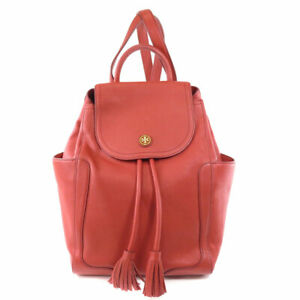 Tory Burch   Backpack  Daypack Logo motif Leather