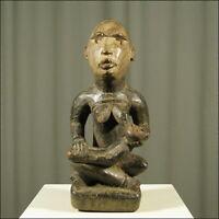 60252) Afrikanische Holz Figur Bakongo Kongo Afrika KUNST