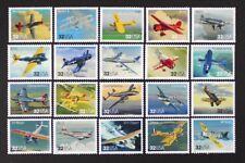 US 1997 #3142 Classic American Aircraft Complete set of 20 in Singles Mint NH