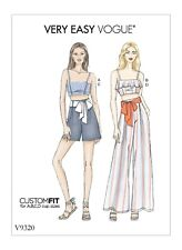 Very Easy Vogue SEWING PATTERN V9320 Misses Tops,Shorts,Trousers 6-14 Or 14-22