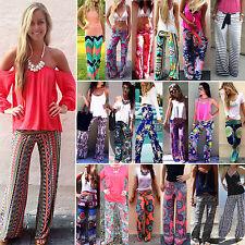 Women's Boho Hippie Wide Leg Baggy Palazzo Pants Beach Gypsy Yoga Loose Trousers