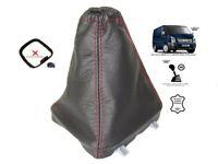 Schaltmanschette Schaltsack Fur Ford Transit 2006-2012 Leder Naht Rot