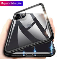 360° Magnetic Adsorption Metal Flip Glass Case Cover For iPhone 11 Pro Max XS XR