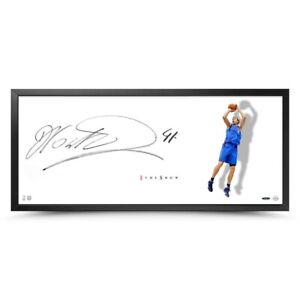 "Dirk Nowitzki Signed Auto 20X46 Photo Framed The Show ""Shooter"" Mavericks UDA"
