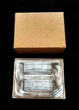 Vintage pair Saart Brothers Sterling Silver Napkin Rings Monogramed