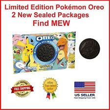 2 Packs Rare Pokemon Oreos Cookies Oreo Find MEW Sealed Package Limited Edition