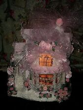 Shabby Chic Roses Pearls Pink Christmas Village Victorian Christmas Village