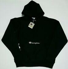 Champion Reverse Weave Mens Multi Script Black Hoodie Size Large