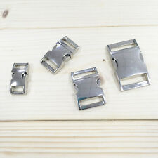 10/15/20/25mm Metal Steel Curve Side Release Buckle Accessories Bracelet Collar
