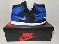 Nike Air Jordan 1 Retro HI Flyknit Black Game Royal 919704-006 Size 10 Free Ship