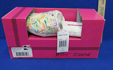 Womens Slippers Size 5 6 Small Rubber Sole Slip On Betsey Johnson White Knit NIB