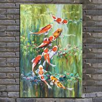 original oil painting, palette knife painting ,koi fish painting