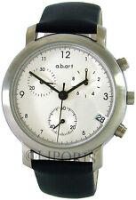 a.b.art Chronograph design Herrenuhr Lederband abart swiss made mens watch B105