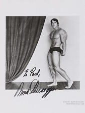 Arnold SCHWARZENEGGER (Actor): Signed Robert MAPPLETHORPE Photograph