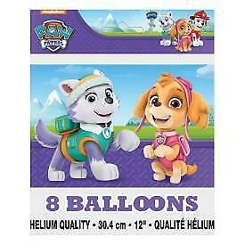 "Paw Patrol Girl 12"" Latex Balloons, 8ct"