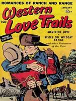 COMIC SUPER HERO COVER WESTERN LOVE TRAILS 08 VINTAGE POSTER ART PRINT 1315PY