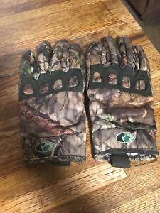 Mens Mossy Oak Mid Season Gloves Size L/xl