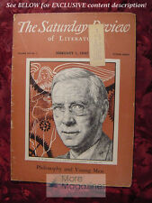 Saturday Review February 1 1947 R. M. MACIVER IRWIN EDMAN ++