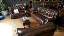 Chesterfield Vollleder 3+2+1 Sofagarnitur Couch Polster Sitz Garnitur Arlington