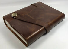 Stonesman Products Handmade Leather Bound Journal Travel Diary Notepad