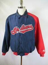 E5515 VTG 90s STARTER Cleveland Indians MLB Baseball Jacket Size M