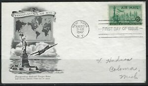 UNITED STATES - #C35 - AIRMAIL ARTMASTER FIRST DAY COVER STATUE OF LIBERTY