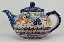 Bunzlauer Keramik Teekanne, Kanne für 1,3Liter Tee, (C017-KOKU), S I G N I E R T