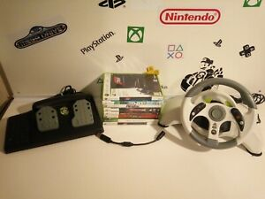 Xbox 360 - Madcatz MC2 - Racing Steering Wheel & Pedal + 7 games Tested, working