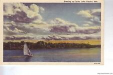 OMAHA NE 1939 Evening on Carter Lake VINTAGE TEICH GEM+++