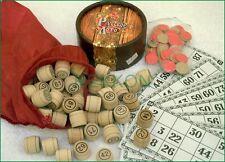 Bingo Russian  Wooden Old Game Lotto Wood Barrels Super High Quality