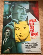 SPY IN YOUR EYE Original Movie Poster DANA ANDREWS PIER ANGELI BRETT HALSEY