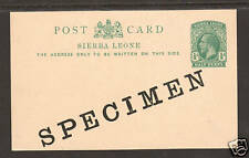 Sierra Leone H&G 11 mint 1912 SPECIMEN Postal Card 1;0