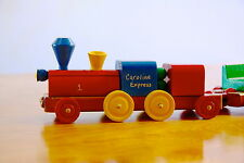 Wooden Toy Train, Children's Book & Certificate. Personalized. Handcrafted. 4+