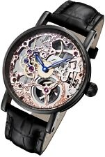 Rougois Tattoo Rose Gold Tone Mechanical Skeleton