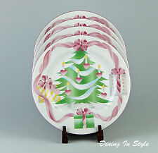 Set of 2 Dinner Plates, NEAR MINT! Home For Christmas, Sango, Indonesia, 4829