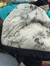 Dorma Black king Velvet rose Bedspread, Reversible unused