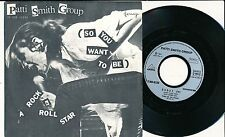"PATTI SMITH GROUP 45 TOURS 7"" FRANCE A ROCK N ROLL STAR"