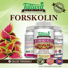 Pure Forskolin Extract Weight Loss & Diet Pills - Best Fat Burners - 60 Capsules