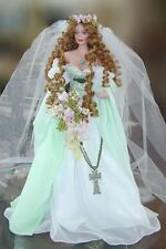 RARE ! Collectable 'Maid Marian' porcelain bride doll by Cindy M McClure