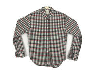 Billy Reid Mens Long Sleeve Slim Cut Button Up Dress Shirt Size Large Plaid