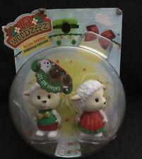 Lil Woodzeez Holiday Christmas Bobbleez 2 Pack Figures Snowflake & Snowball