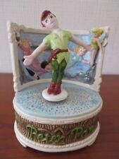 RARE VINTAGE Disney Schmid PETER PAN Rotating Music Box - You Can Fly